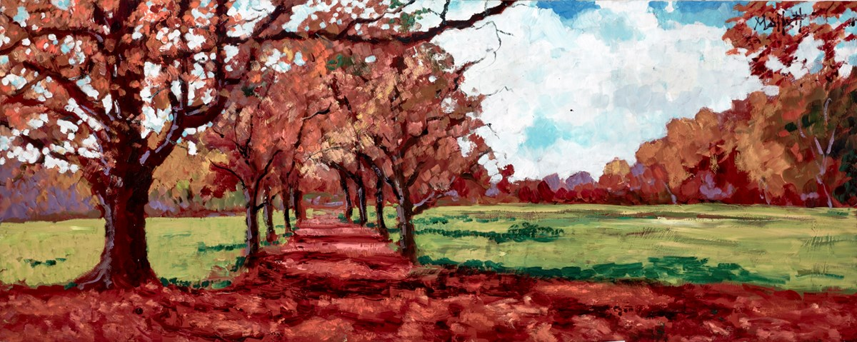 Autumn Avenue by timmy mallett -  sized 30x12 inches. Available from Whitewall Galleries